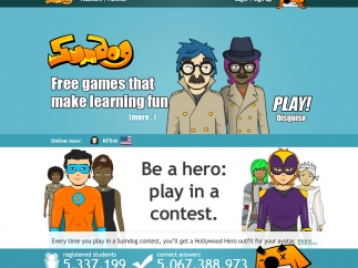 Kids play fun math games with a personalized avatar.