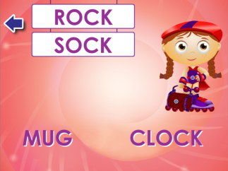 "Kids hear the words ""rock' and ""sock"" but not the answer choices."
