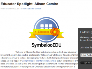 A blog highlights educators and the different ways they use the site.