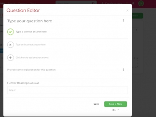 Users can create quizzes or access publicly shared quizzes created by other users.