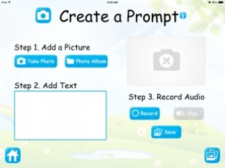 Teachers or students can add their own prompts.