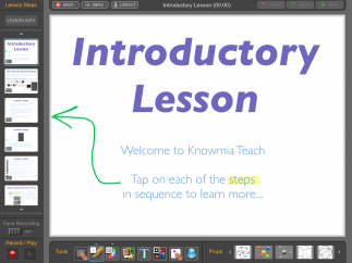 Introductory lesson walks users through the basics of using the app and offers pro screencasting tips.