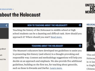 There's a wealth of resources for anyone teaching about the Holocaust.