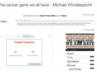 Teachers can customize the lesson plans that accompany any video.