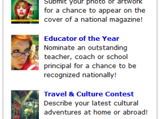 Teen Ink-sponsored contest information is prominently displayed on the front page with links to the instructions.