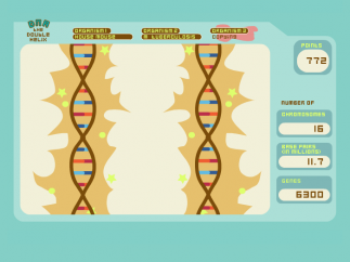 When students succeed in copying the DNA correctly, the game sparkles.