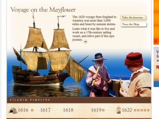 Virtual tour of the Mayflower and its journey across the Atlantic