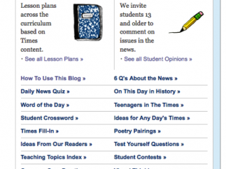 The Lesson Plan and Student Opinion sites are open for contributors.