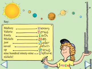 Kids learn a fun Seuss-style mnemonic to help them learn the planets in order from the Sun.