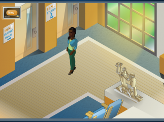 There are multiple rooms, halls, and lobbies to visit during play.