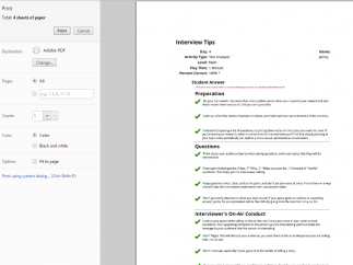 Kids can print progress reports for themselves or teachers.