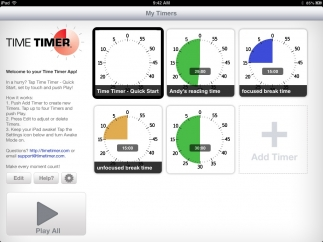 View and play multiple timers at once.