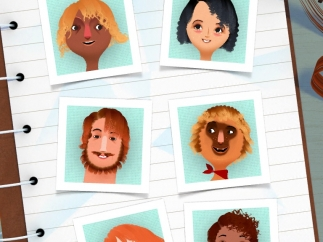 Six new characters for kids to style.