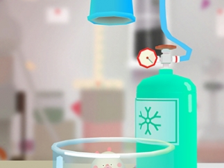 Kids can use freezing agents to explore chemical properties of elements.