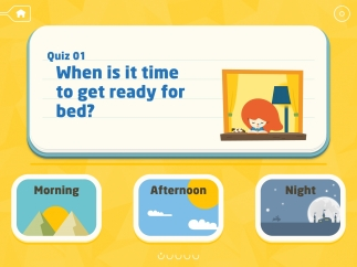 Quizzes get kids estimating how long things take and when they happen.