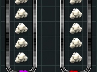 "Kids must route trains around obstacles in ""U-Turn"" puzzle worth one star."