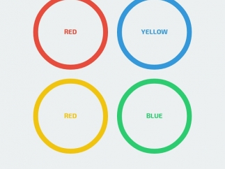 Identify the correct color-word combination.