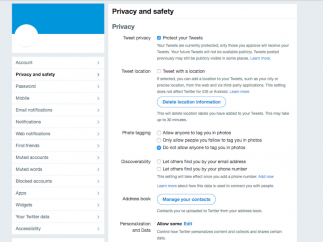 Be sure to set your privacy settings just the way you want them.