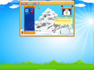 Students in K–2 get a different interface, working their way up K2 Mountain.