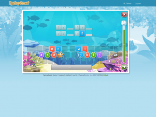 Lessons start off gently with an on-screen keyboard to guide students.