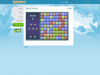 Several typing games add to the learning.