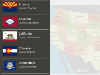 State data includes geography, flags, facts, and state history.