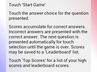 Instructions are available, but the game is easy to navigate without them.