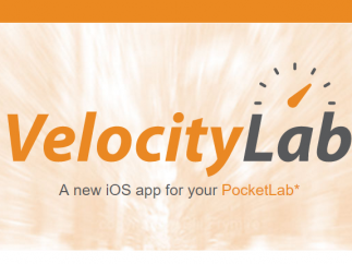VelocityLab works with a PocketLab sensor to measure the speed, velocity, and acceleration of moving objects.