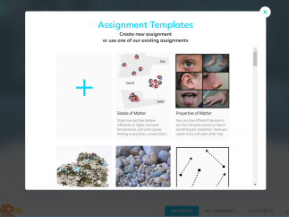 Create new assignments or modify templates.
