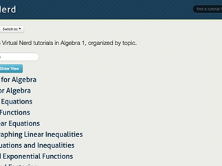 Videos are well organized by topic, though Algebra 1 and 2 skills aren't always differentiated.