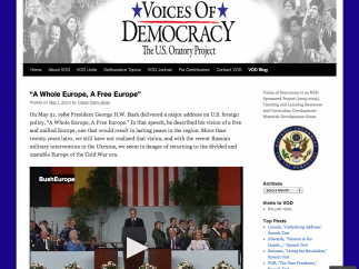 The VOD blog is a resource that can help connect history to current events.