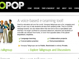 Voxopop talkgroups can really help kids with verbal communication practice.