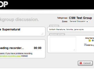 Start a discussion with an audio prompt and watch student responses roll in.