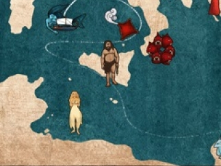 Kids can pick any destination from the map of Ulysses's Odyssey.