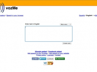 Users type text into a field on the site's homepage to begin the text-to-audio conversion process.