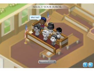 Diversity makes a strong appearance in the form of the six jurors.