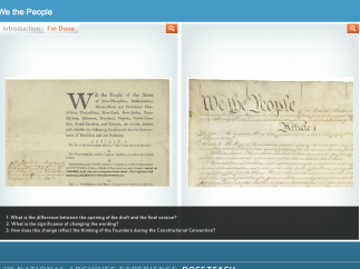 "In the ""We the People"" activity, kids compare drafts of the Constitution."