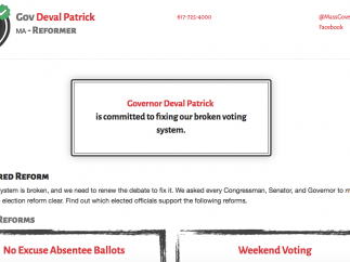 Users can enter their home addresses and explore the voting records of their elected officials.