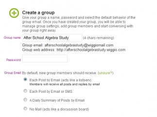 Groups can choose to get their information through e-mail or SMS.