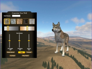 Customize your wolf's appearance and attributes.