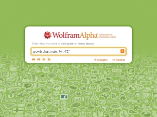 Click Random to find other questions Wolfram Alpha has answered.