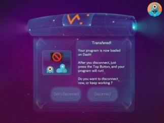 Transfer programs directly to the robot to run without the app.
