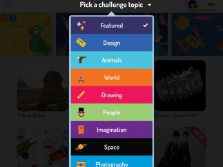 There are a variety of challenge topics to choose from.