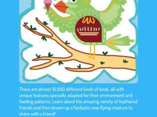 This challenge includes videos about different bird features and then invites kids to design their own bird.
