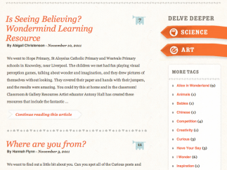 A blog also offers additional teaching instruction and other information.