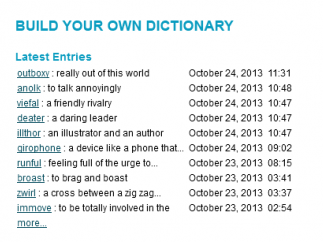 The Build Your Own Dictionary feature would make a fun classroom lesson on creativity and imagination.