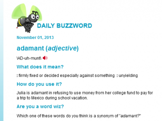 The Daily Buzzword is still updated every day.