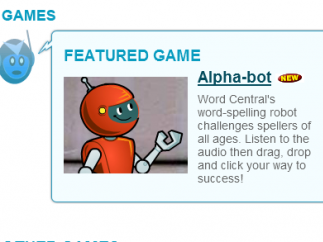 Alpha-bot's game uses audio to give kids spelling words.