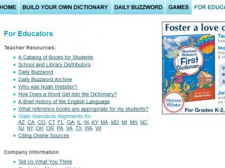 A good selection of educator resources is a nice surprise.