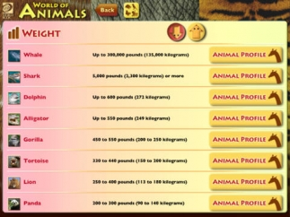 See how animals compare to one another.